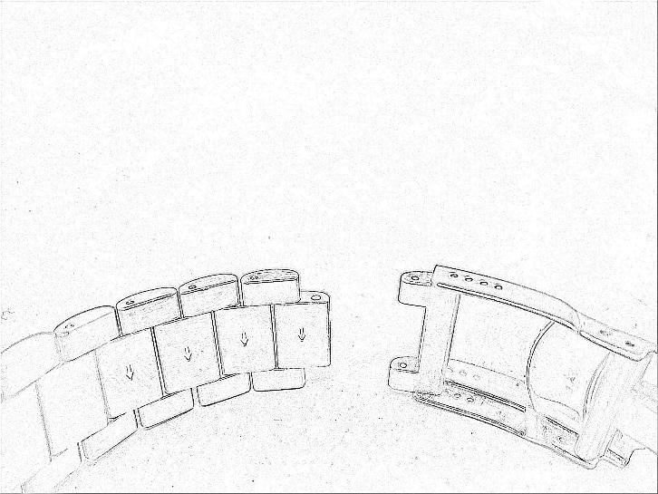 specifications instructions octon Snoqw Sping the bracelet should now look like the picture on the left above and you must first line up the links and then re insert the link pin in the reverse of how